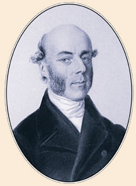 A portrait of J. Barrande in the period of his tutor activities